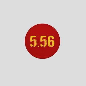 5.56 Ammo: Red & Gold Mini Button