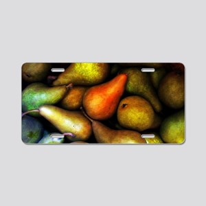 Still Life with Pears Aluminum License Plate