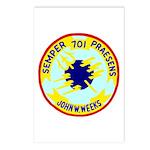 USS John W. Weeks (DD 701) Postcards (Package of 8