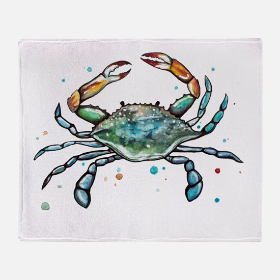 Cute Crab Throw Blanket