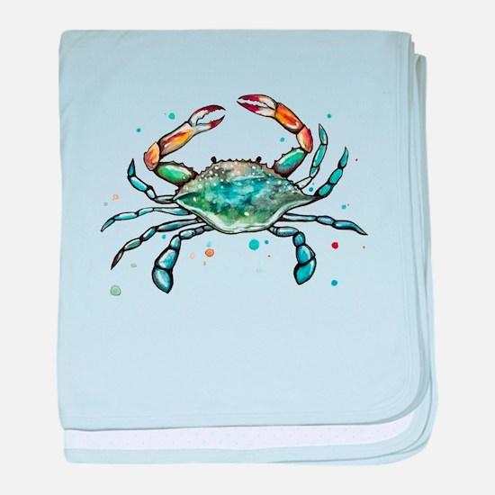 Maryland Blue Crab baby blanket