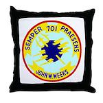 USS John W. Weeks (DD 701) Throw Pillow