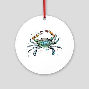 Maryland Blue Crab Round Ornament