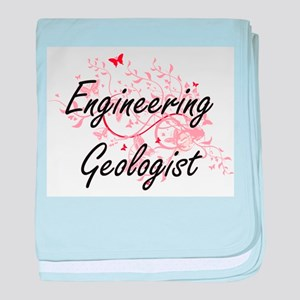 Engineering Geologist Artistic Job De baby blanket