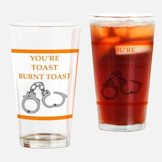 bondage joke on gifts and t-shirts. Drinking Glass