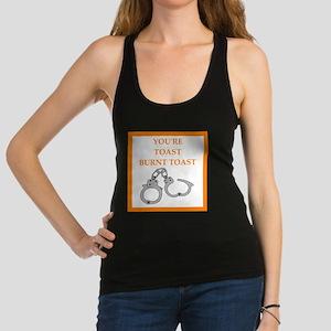 bondage joke on gifts and t-shirts. Racerback Tank