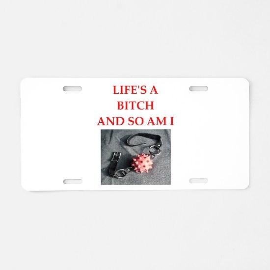 ball gag joe Aluminum License Plate