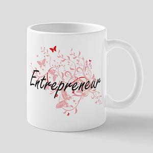 Entrepreneur Artistic Job Design with Butterf Mugs