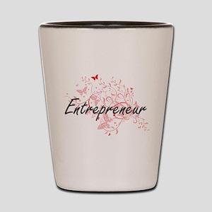 Entrepreneur Artistic Job Design with B Shot Glass