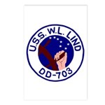 USS W. L. Lind (DD 703) Postcards (Package of 8)