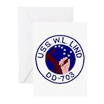 USS W. L. Lind (DD 703) Greeting Cards (Pk of 20)