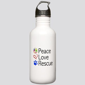 Peace Love Rescue Water Bottle