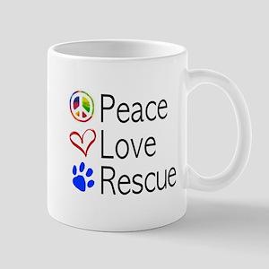 Peace Love Rescue Mugs