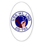 USS W. L. Lind (DD 703) Oval Sticker