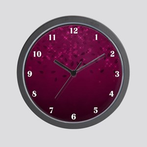 Burgundy Twinkle Wall Clock