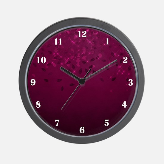 Burgundy Twinkle Wall Clock