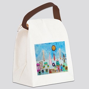 G2 SF Cityscape Canvas Lunch Bag