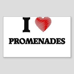 I Love Promenades Sticker