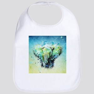 watercolor elephant Bib