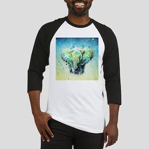 watercolor elephant Baseball Jersey