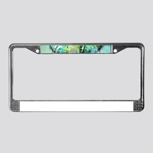 watercolor elephant License Plate Frame