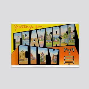 Traverse City Michigan Rectangle Magnet