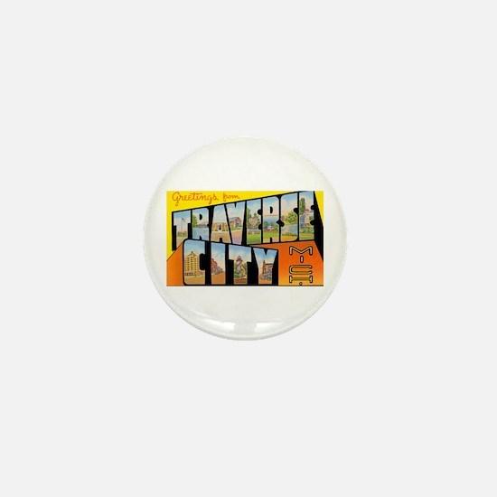 Traverse City Michigan Mini Button