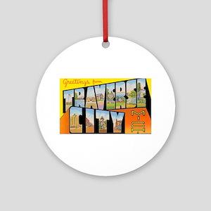 Traverse City Michigan Ornament (Round)