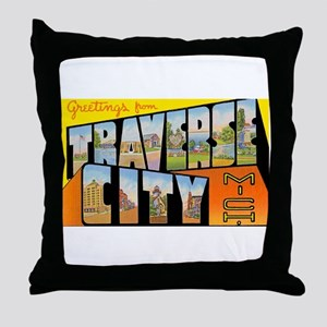 Traverse City Michigan Throw Pillow