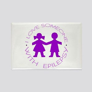 I love someone with Epilepsy Rectangle Magnet
