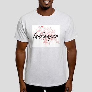Innkeeper Artistic Job Design with Butterf T-Shirt