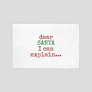 Dear Santa I Can Explain...Christmas g 4' x 6' Rug