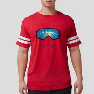 Happy Skier Mens Football Shirt T-Shirt