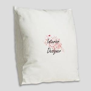 Interior Designer Artistic Job Burlap Throw Pillow