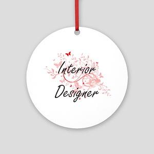 Interior Designer Artistic Job Desi Round Ornament
