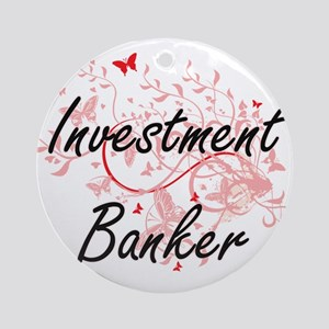 Investment Banker Artistic Job Desi Round Ornament