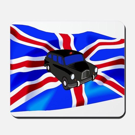 Black Cab Union Jack Mousepad