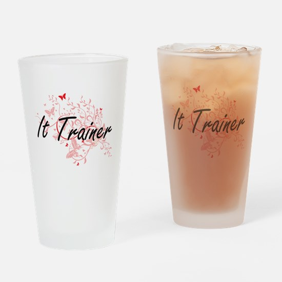 It Trainer Artistic Job Design with Drinking Glass