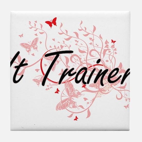 It Trainer Artistic Job Design with B Tile Coaster