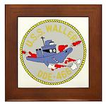 USS Waller (DDE 466) Framed Tile