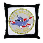 USS Waller (DDE 466) Throw Pillow