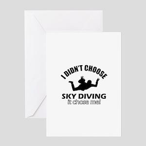 Sky Diving Choose Me Greeting Card