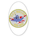 USS Waller (DDE 466) Oval Sticker