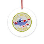 USS Waller (DDE 466) Ornament (Round)