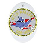 USS Waller (DDE 466) Oval Ornament