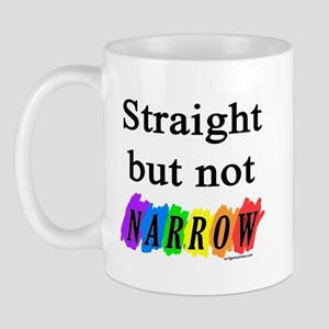 Straight but not narrow rainb Mug