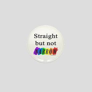 Straight but not narrow rainb Mini Button