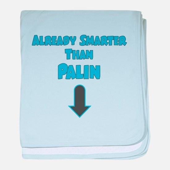 ALREADY SMARTER THAN PALIN BLUE baby blanket