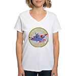 USS Waller (DDE 466) Women's V-Neck T-Shirt