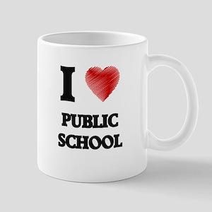 I Love Public School Mugs